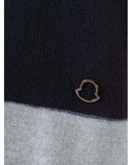 Свитер С Контрастным Подолом И Манжетами Moncler                                                                                                              синий цвет