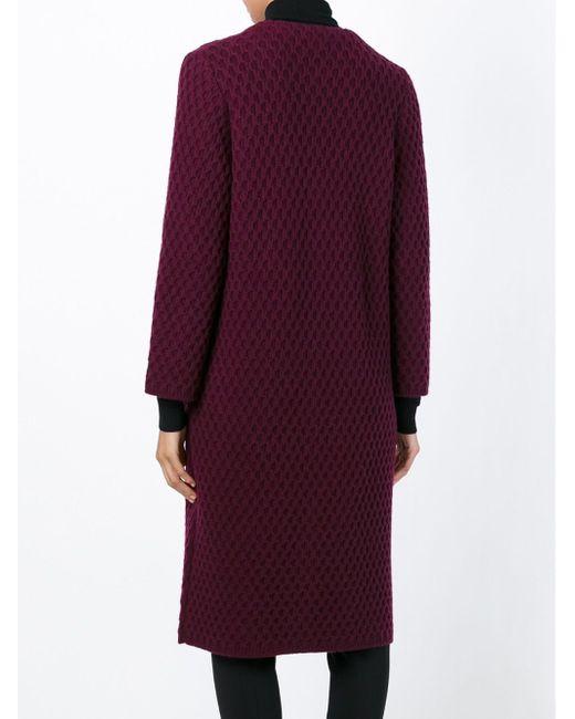 Honeycomb Knit Cardi-Coat Dolce & Gabbana                                                                                                              розовый цвет