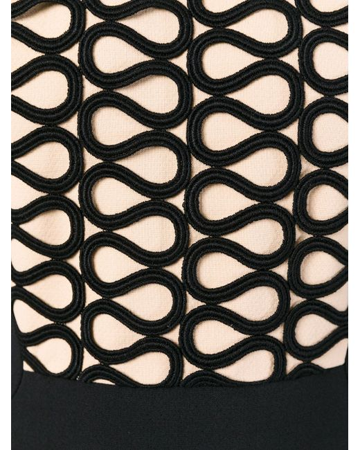 Geometric Pattern Top Fitted Dress David Koma                                                                                                              чёрный цвет
