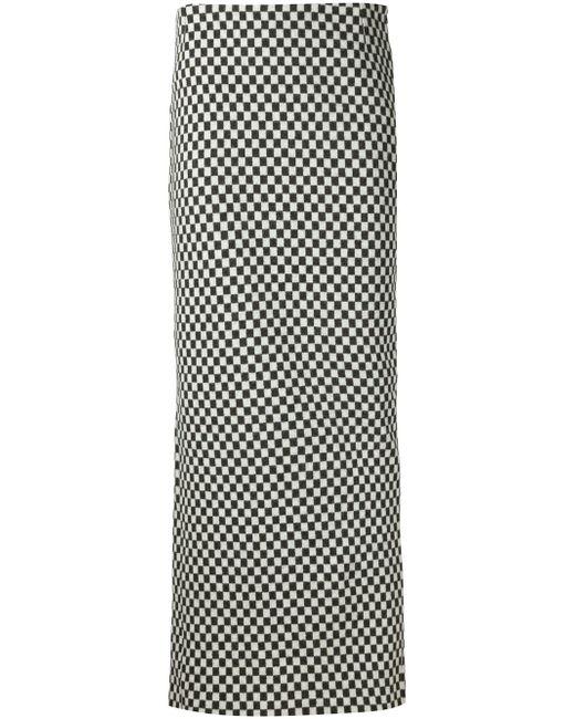 Длинная Юбка В Клетку Haider Ackermann                                                                                                              чёрный цвет