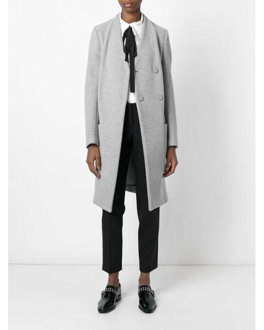 Двубортное Пальто Dondup                                                                                                              серый цвет