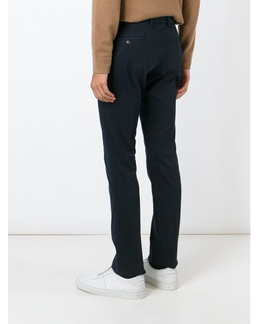 Slim Chino Trousers Aspesi                                                                                                              синий цвет