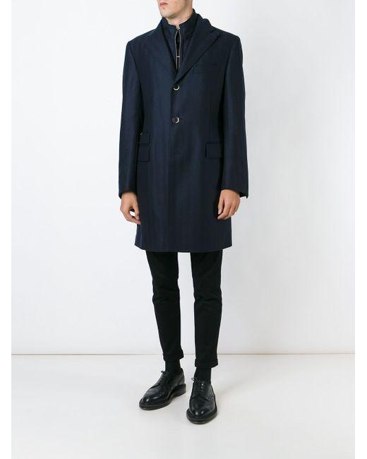 Однобортное Пальто Corneliani                                                                                                              чёрный цвет