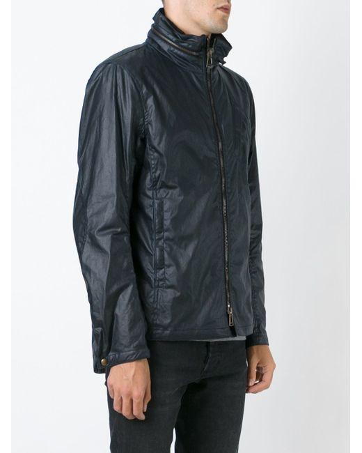 Zip Windbreaker Jacket Belstaff                                                                                                              синий цвет