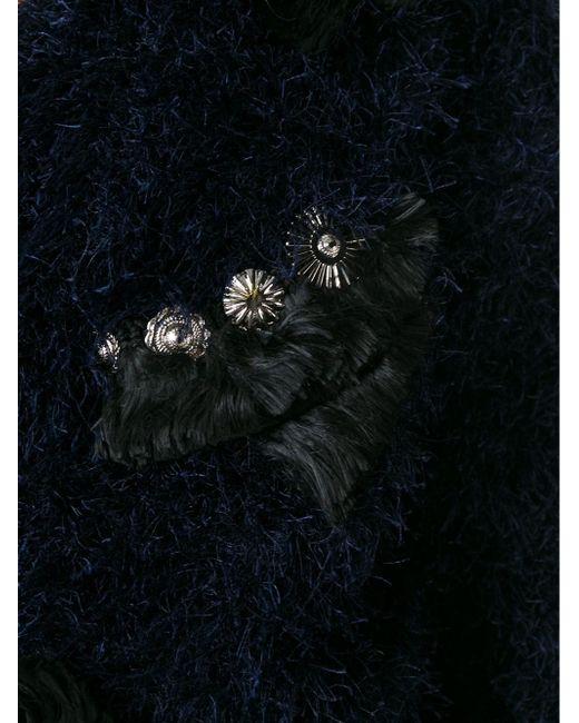 Декорированный Кардиган С Бахромой Toga Pulla                                                                                                              синий цвет
