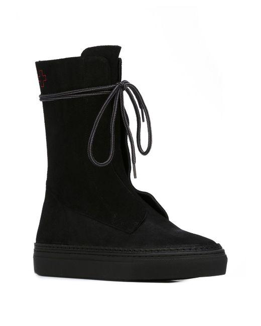 Lace Up Flat Boots A.F.Vandevorst                                                                                                              чёрный цвет