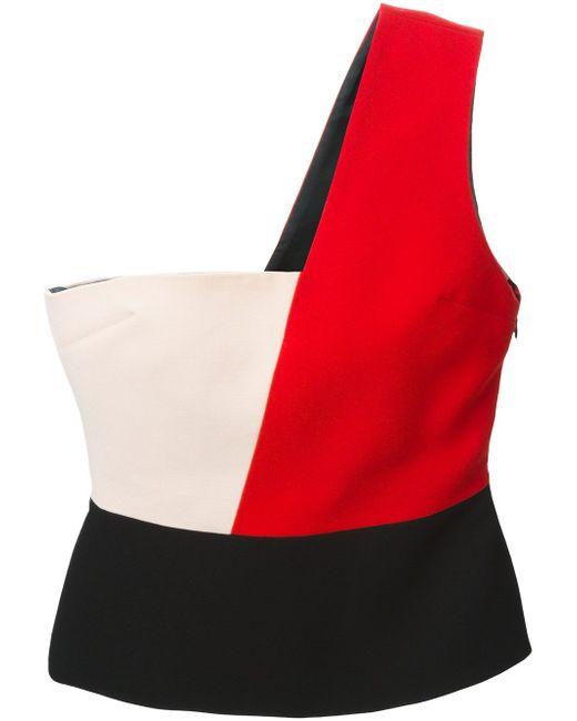 Топ На Одно Плечо Дизайна Колор-Блок Fausto Puglisi                                                                                                              чёрный цвет