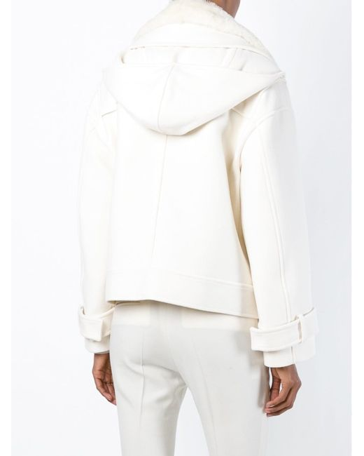 Куртка С Меховым Воротником И Капюшоном Emilio Pucci                                                                                                              белый цвет