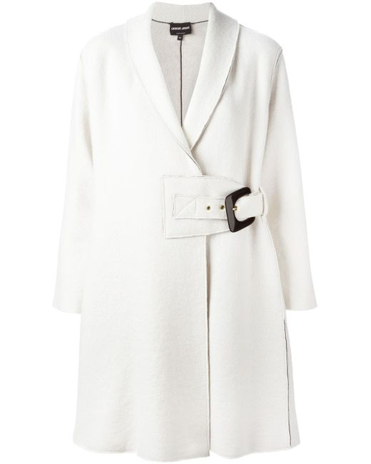Oversized Buckle Cardi-Coat Giorgio Armani                                                                                                              Nude & Neutrals цвет