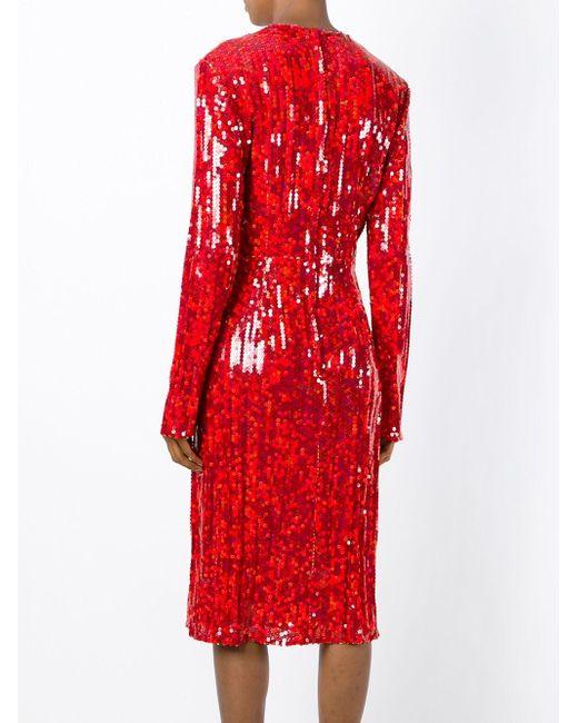 Платье Миди С Пайетками Nina Ricci                                                                                                              красный цвет