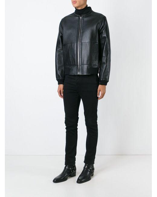 Reversible Bomber Jacket Roberto Cavalli                                                                                                              чёрный цвет