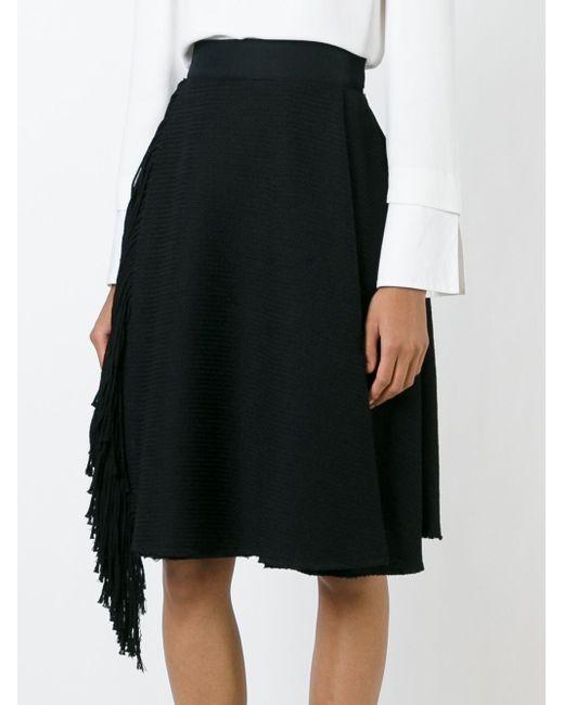 Юбка С Бахромой Lanvin                                                                                                              чёрный цвет