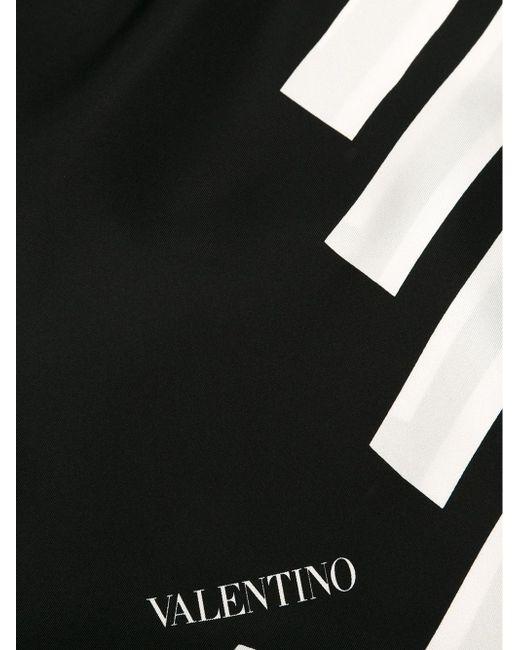 Шарф В Диагональную Полоску Valentino Garavani                                                                                                              чёрный цвет