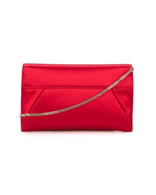 Сумка-Конверт На Плечо С Логотипом Roberto Cavalli                                                                                                              красный цвет