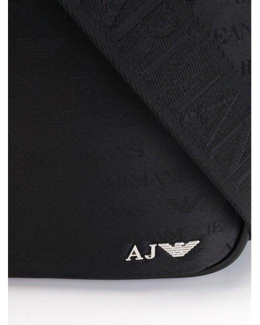 Сумка-Почтальонка С Принтом-Логотипом ARMANI JEANS                                                                                                              чёрный цвет
