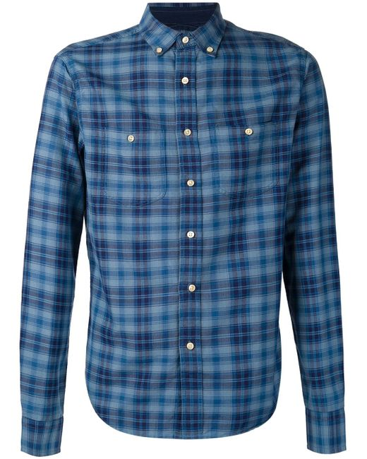 Checked Shirt ALEX MILL                                                                                                              синий цвет