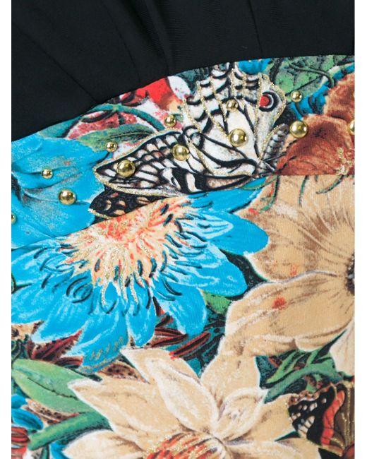 Топ С Цветочным Принтом Roberto Cavalli                                                                                                              чёрный цвет