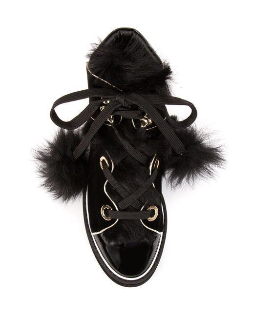 Polly Neige Hi-Top Sneakers Nicholas Kirkwood                                                                                                              чёрный цвет