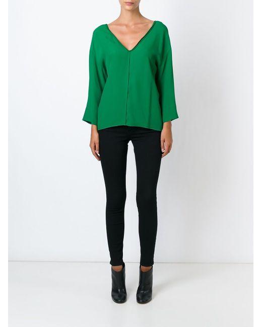Блузка С V-Образным Вырезом Forte Forte                                                                                                              зелёный цвет