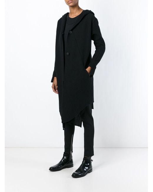 Длинное Пальто С Капюшоном Barbara I Gongini                                                                                                              чёрный цвет