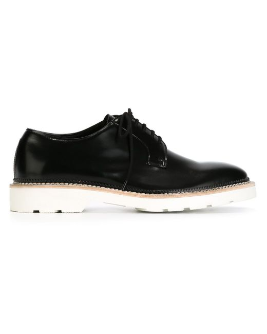 Contrast Sole Derby Shoes Alexander McQueen                                                                                                              чёрный цвет