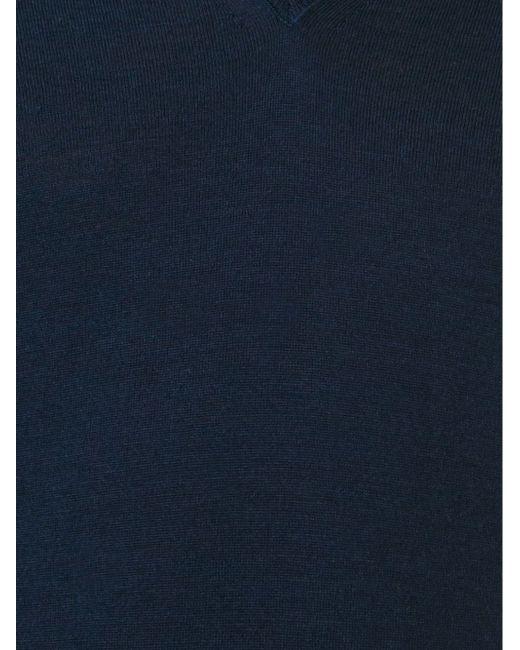 Свитер C V-Образным Вырезом Paolo Pecora                                                                                                              синий цвет