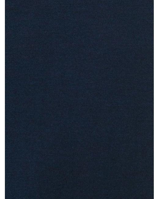 Свитер С Круглым Вырезом Paolo Pecora                                                                                                              синий цвет