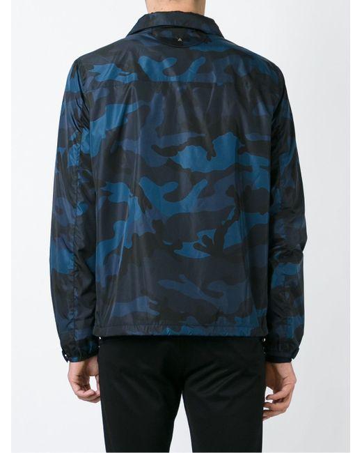 Куртка С Камуфляжным Принтом Valentino                                                                                                              синий цвет