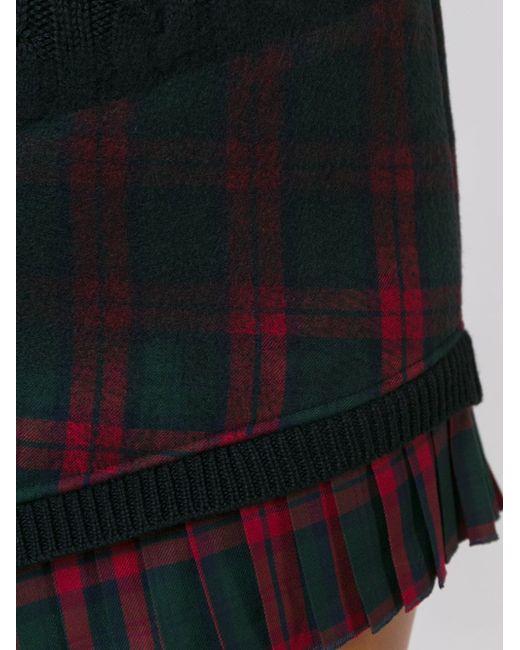 Платье Вязки Косичкой С Клетчатым Подолом Versus                                                                                                              чёрный цвет