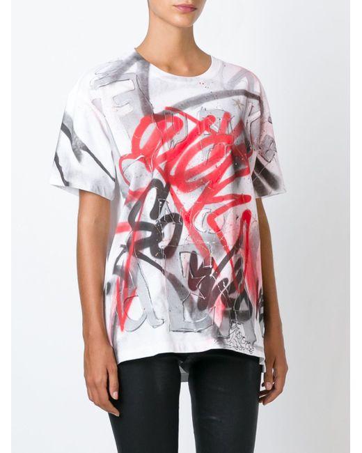 Graffiti Print T-Shirt Faith Connexion                                                                                                              белый цвет