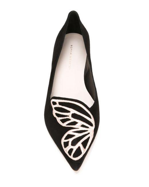Bibi Butterfly Ballerinas Sophia Webster                                                                                                              чёрный цвет