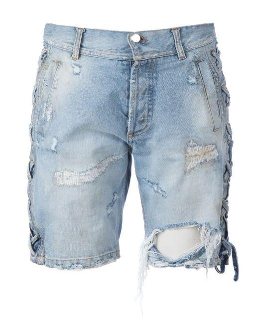 Distressed Denim Shorts Faith Connexion                                                                                                              синий цвет