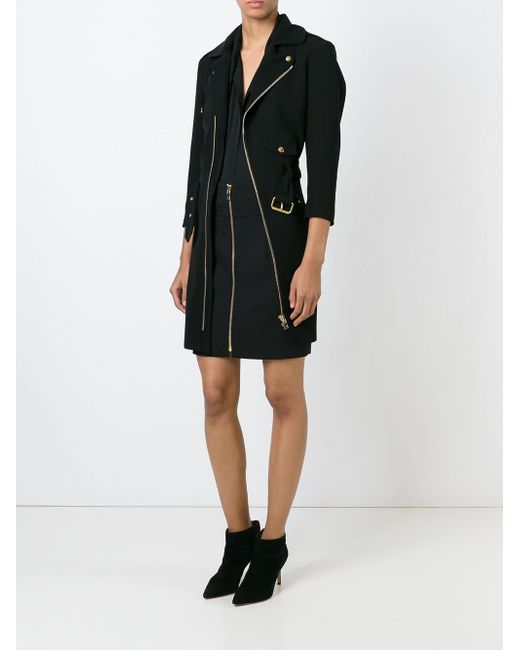 Платье В Байкерском Стиле Alexandre Vauthier                                                                                                              чёрный цвет