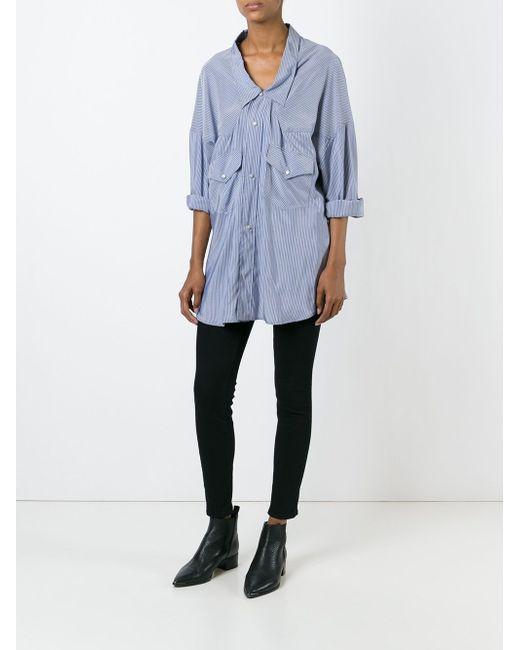 Striped Loose Fit Shirt Faith Connexion                                                                                                              синий цвет