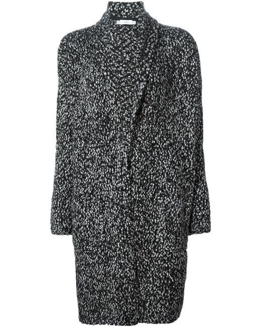Пестрое Пальто Крупной Вязки Vince                                                                                                              чёрный цвет