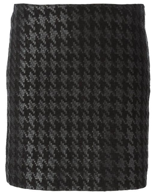 Houndstooth Skirt Muubaa                                                                                                              чёрный цвет