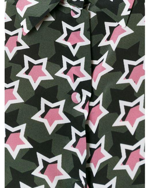 Рубашка С Принтом Звезд Emanuel Ungaro                                                                                                              зелёный цвет