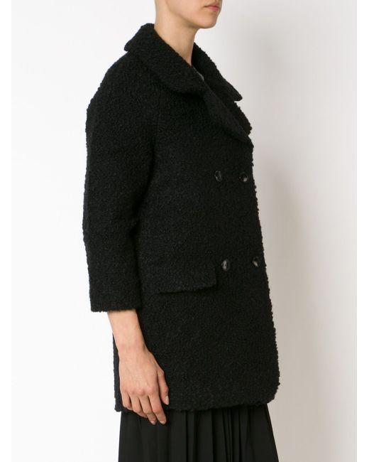 Двубортное Пальто Из Букле YMC                                                                                                              чёрный цвет