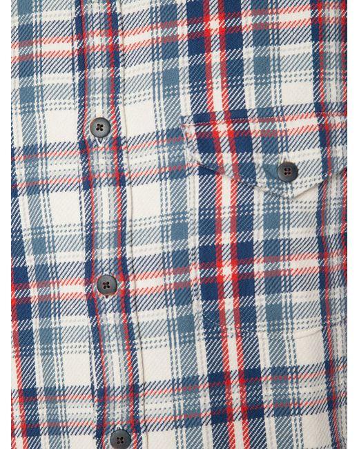 Рубашка В Клетку Brushed Twill ALEX MILL                                                                                                              синий цвет