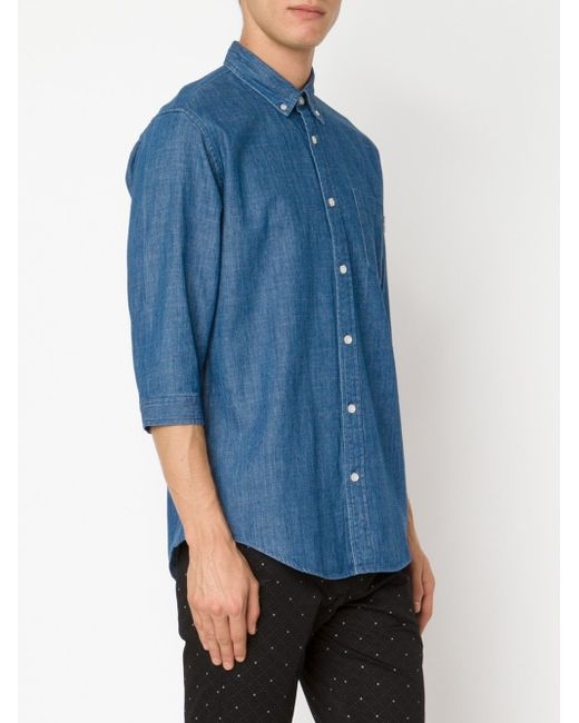 Рубашка Daner Publish                                                                                                              синий цвет