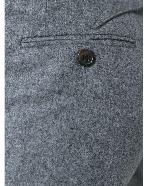 Укороченные Брюки Thom Browne                                                                                                              серый цвет