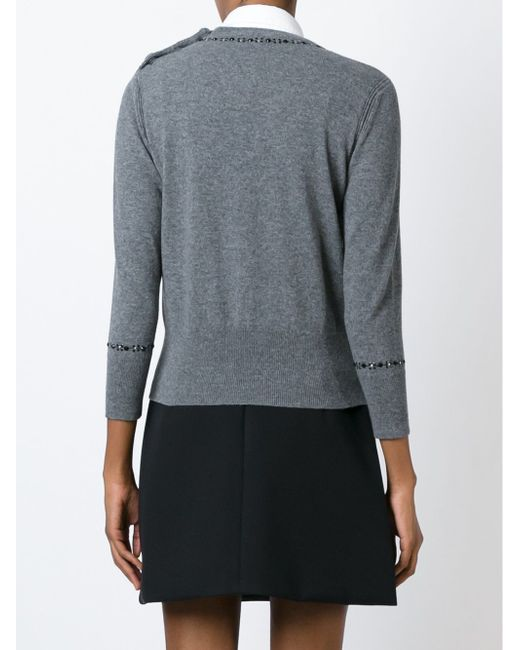 Embroidered Sweater Marc Jacobs                                                                                                              серый цвет