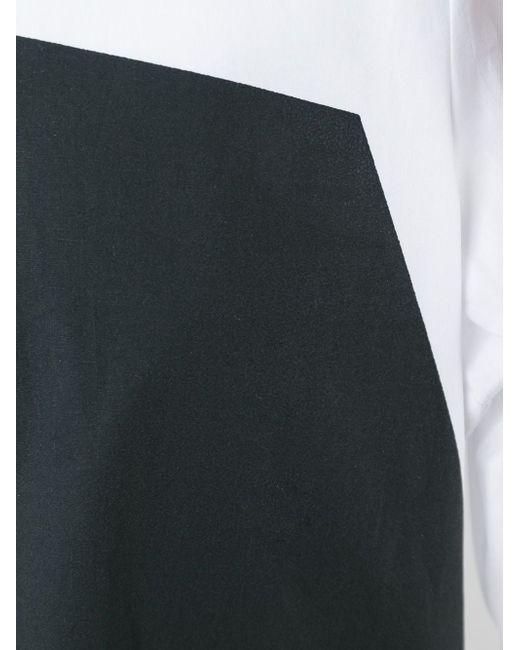 Платье-Рубашка С Геометрическим Панелями Mcq Alexander Mcqueen                                                                                                              белый цвет