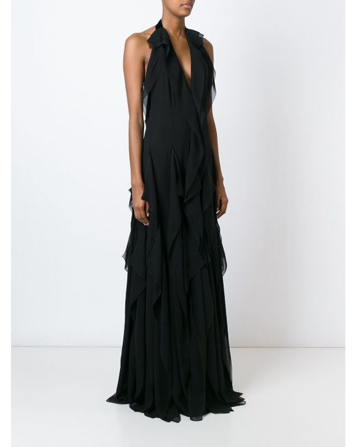 Halterneck Ruffled Gown Emilio Pucci                                                                                                              чёрный цвет