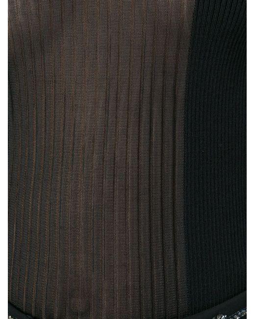 Вязаный Свитер С Прозрачной Вставкой Emilio Pucci                                                                                                              чёрный цвет