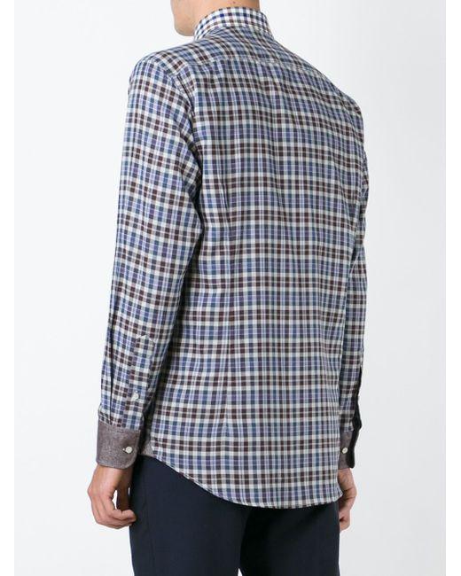 Check Print Shirt Etro                                                                                                              серый цвет