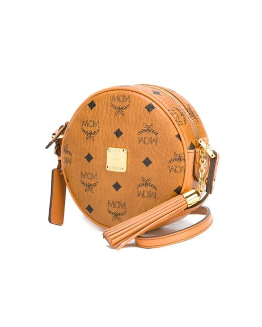 Logo Round-Shaped Box Bag MCM                                                                                                              Nude & Neutrals цвет