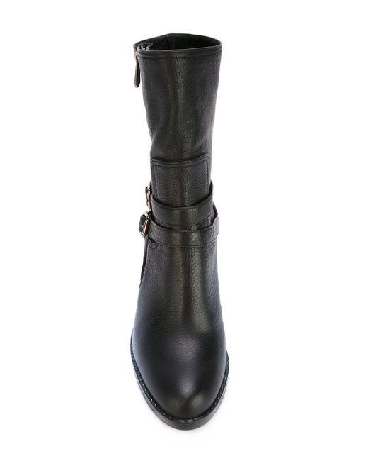 Chunky Heel Buckled Boots Paul Andrew                                                                                                              чёрный цвет
