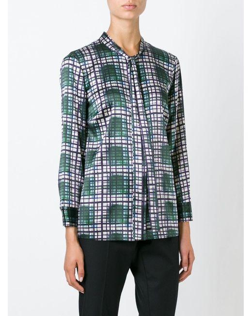 Блузка В Клетку L' Autre Chose                                                                                                              зелёный цвет