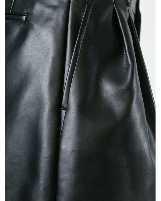 Широкие Шорты Из Искусственной Кожи COMME DES GARCONS HOMME PLUS                                                                                                              чёрный цвет